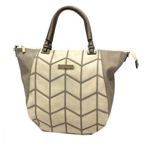 Borsa donna similpelle shopping grande a mano Linea JANE2 Naj Oleari 61539  sabbia 68136c09982