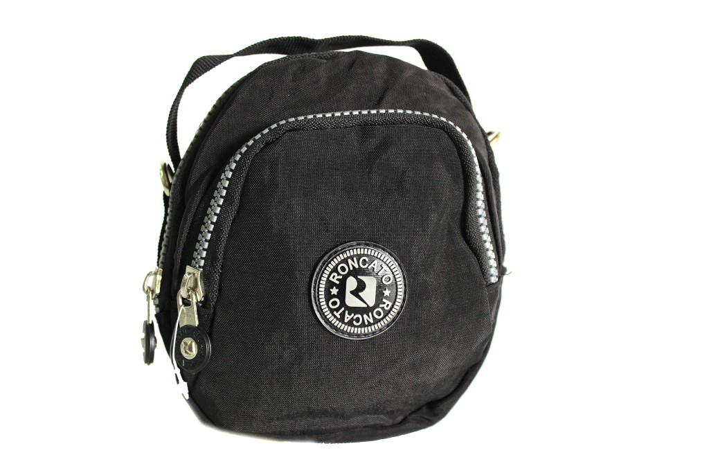 più foto 32171 616de Mini borsello in tessuto tecnico R RONCATO tracolla bandoliera 46.59.51 nero