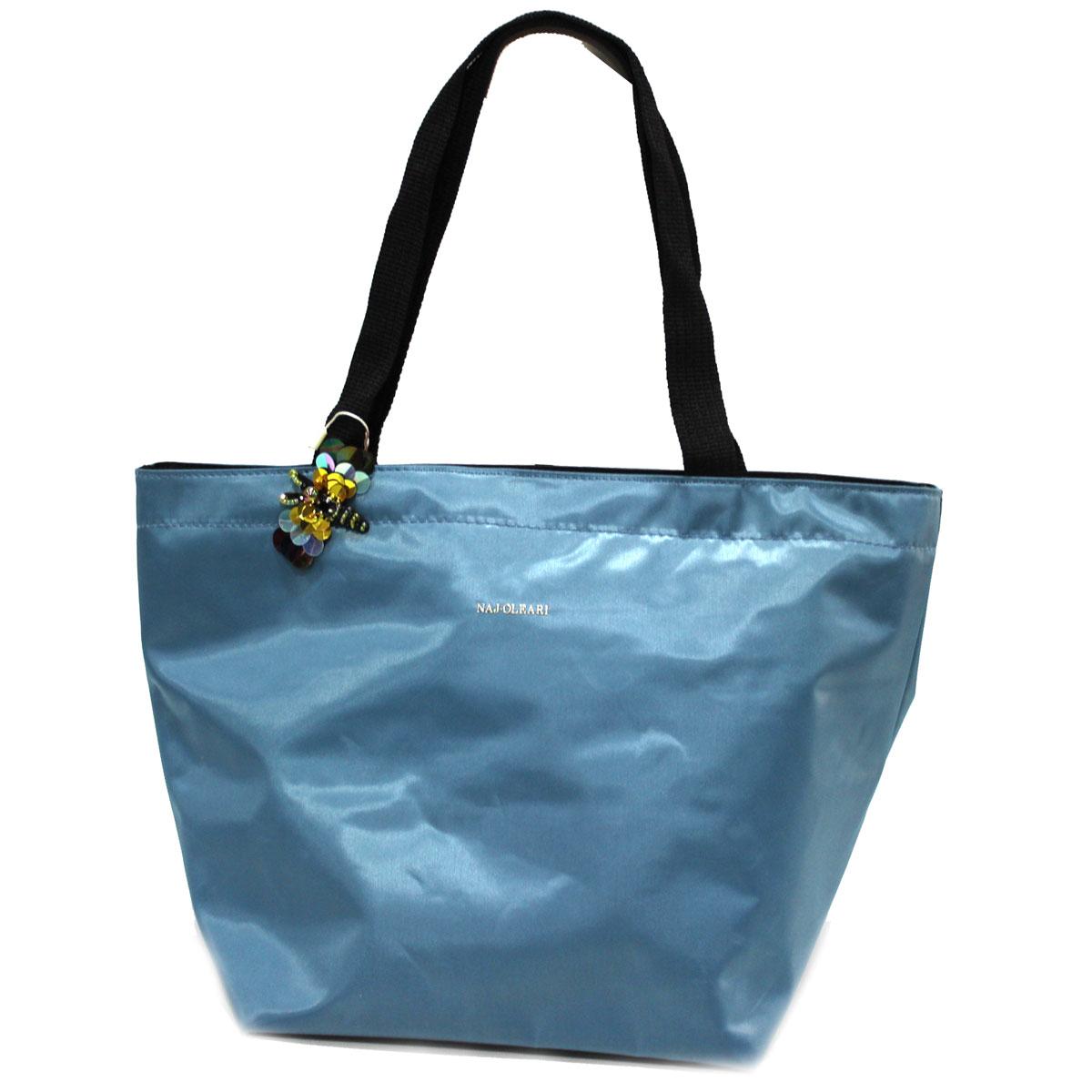 super popular abcb4 44797 Women's bag 100% nylon big shopping shoulder bag Miac line Naj Oleari 61099  blue