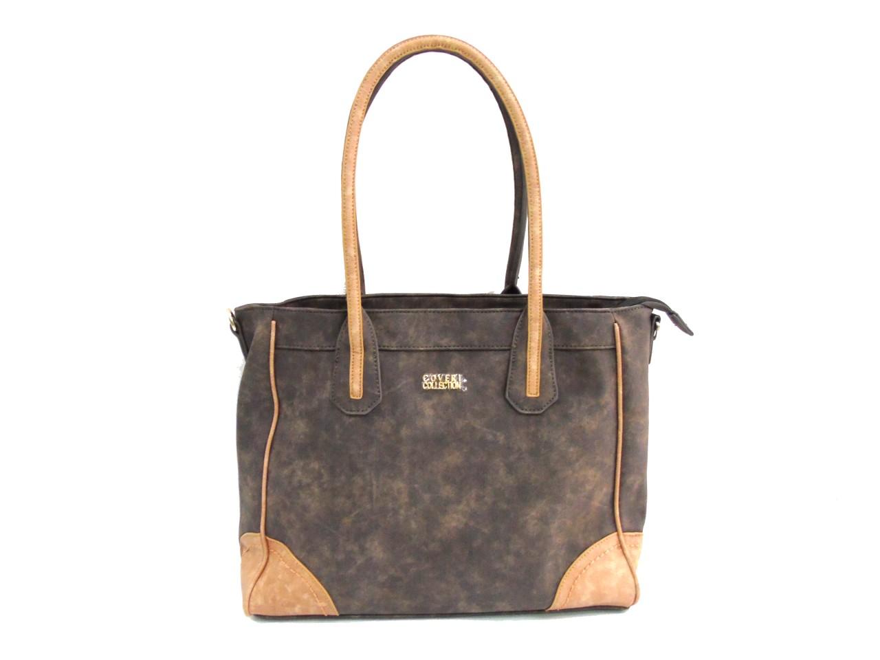 Borsa donna Coveri Collection mod.shopping a spalla 172227 4 moro