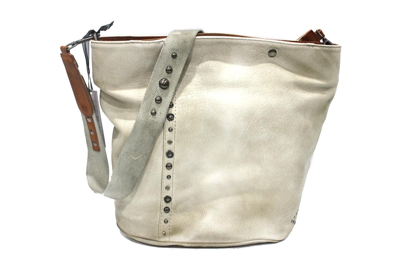 Borsa vintage Lookat Panna L sacca Tracolla Mod Con Donna Y618 rff7a
