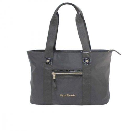 wholesale dealer 97120 1713a Renato Balestra women's shopping bag 2 handles Vegan line 100-13 black