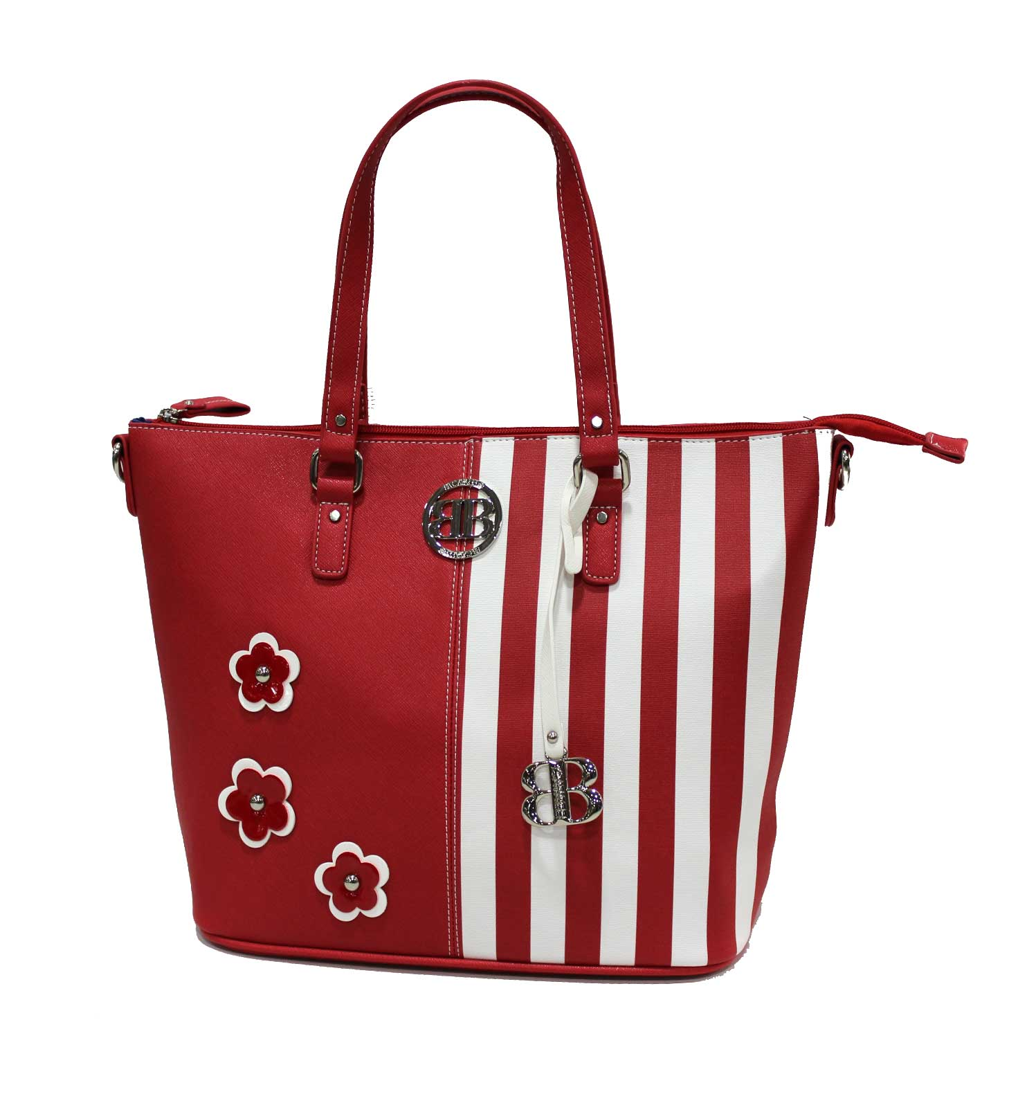 finest selection 746bb 2a289 Women's handbag imitation leather 2 handles B.Cavalli Smeralda line 041 red