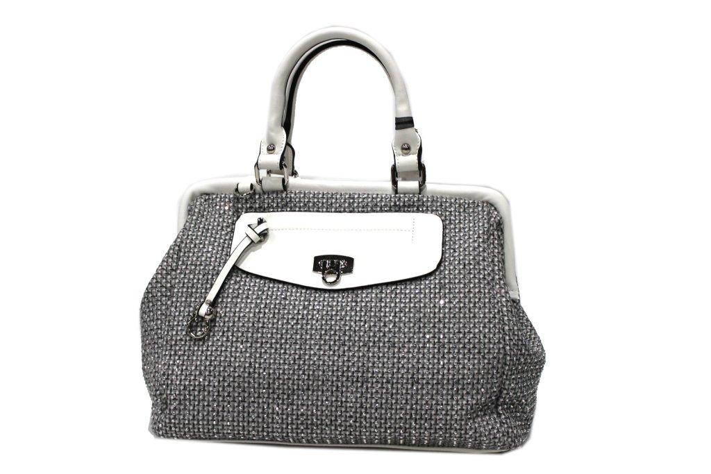 vendite all'ingrosso buona vendita cerca l'autorizzazione Woman's bag studs Lookat s1332 white