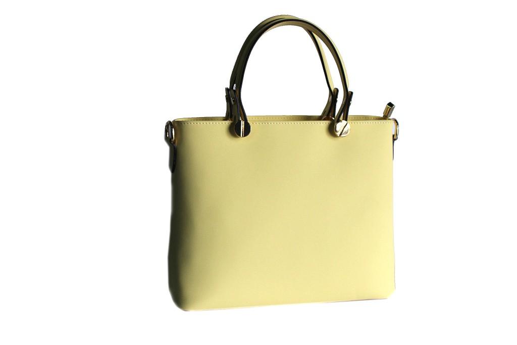 italy made a shopping fez chiaro donna giallo in l pelle Borsa mano RqUSWP