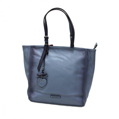 Borsa donna similpelle shopping grande a mano Linea Cloe Naj Oleari 61540  jeans ade32096655
