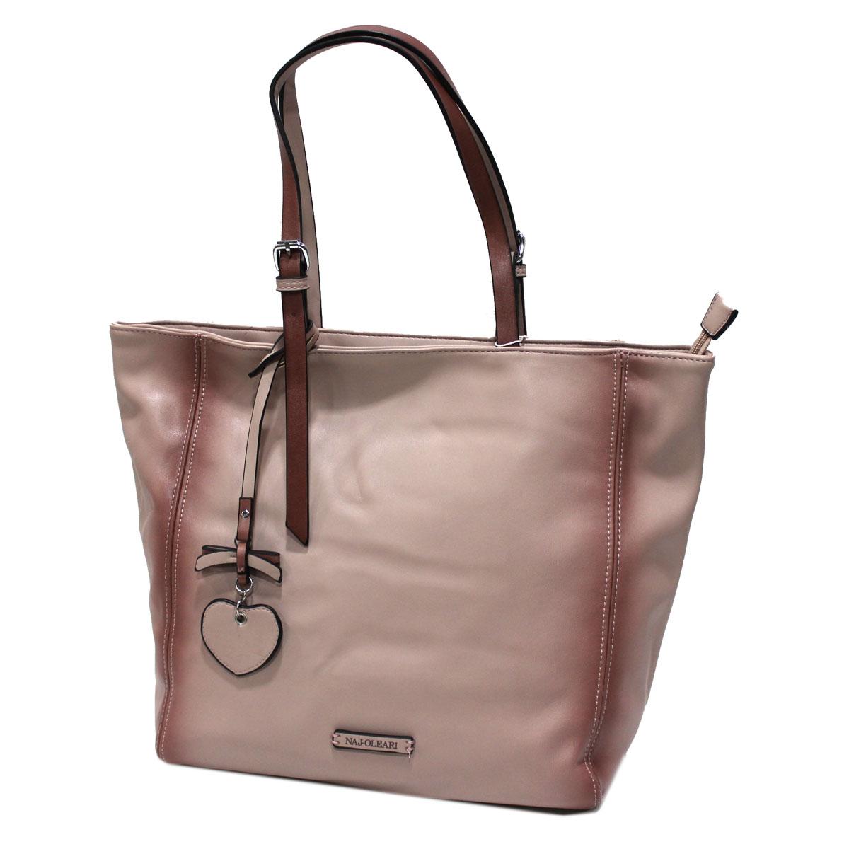 Borsa donna similpelle shopping grande a mano Linea Cloe Naj Oleari 61540  cipria 5b8debb1da4