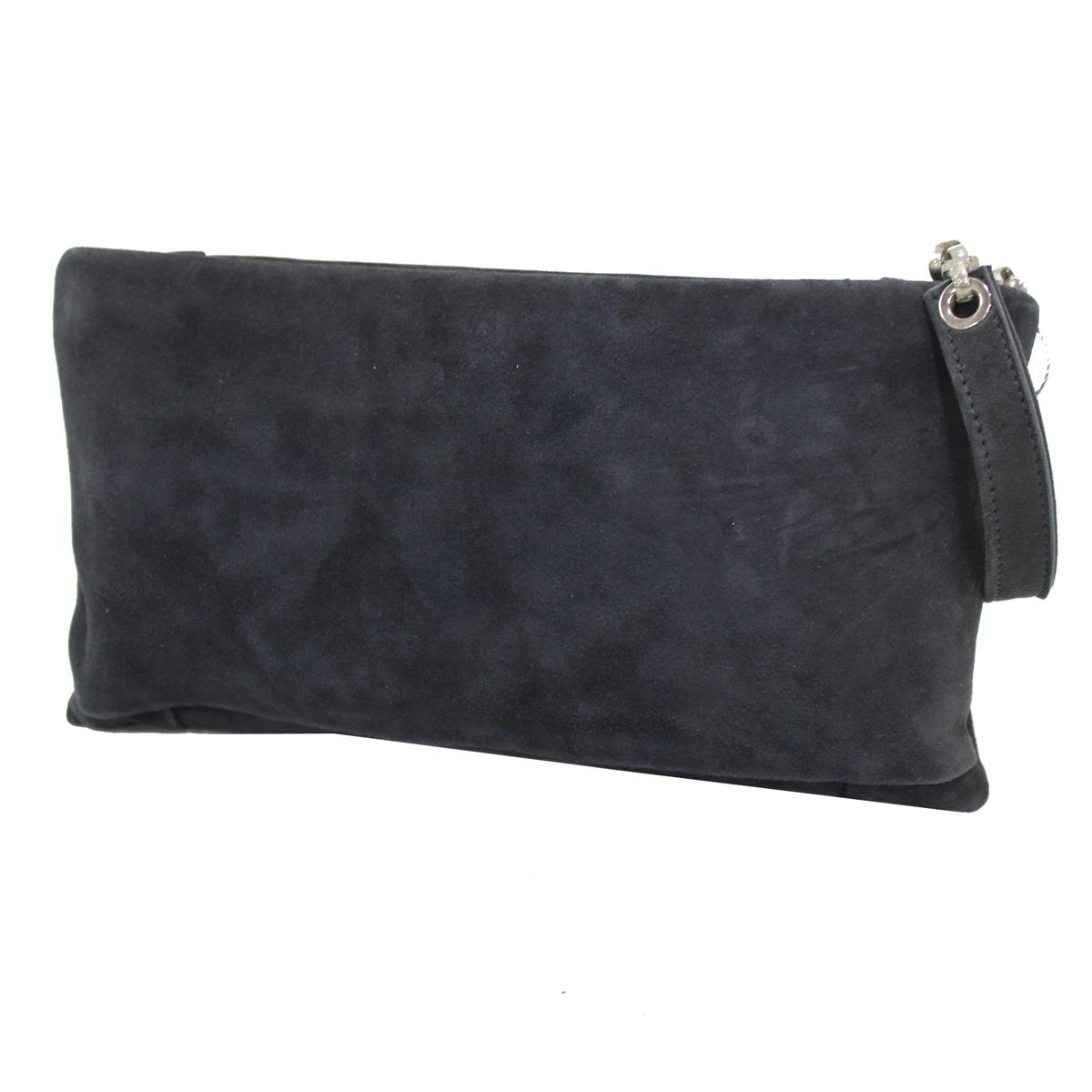 b2d2f40986 Borsetta donna borsa clutch a mano da sera cerimonia pelle Annaluna 188 blu