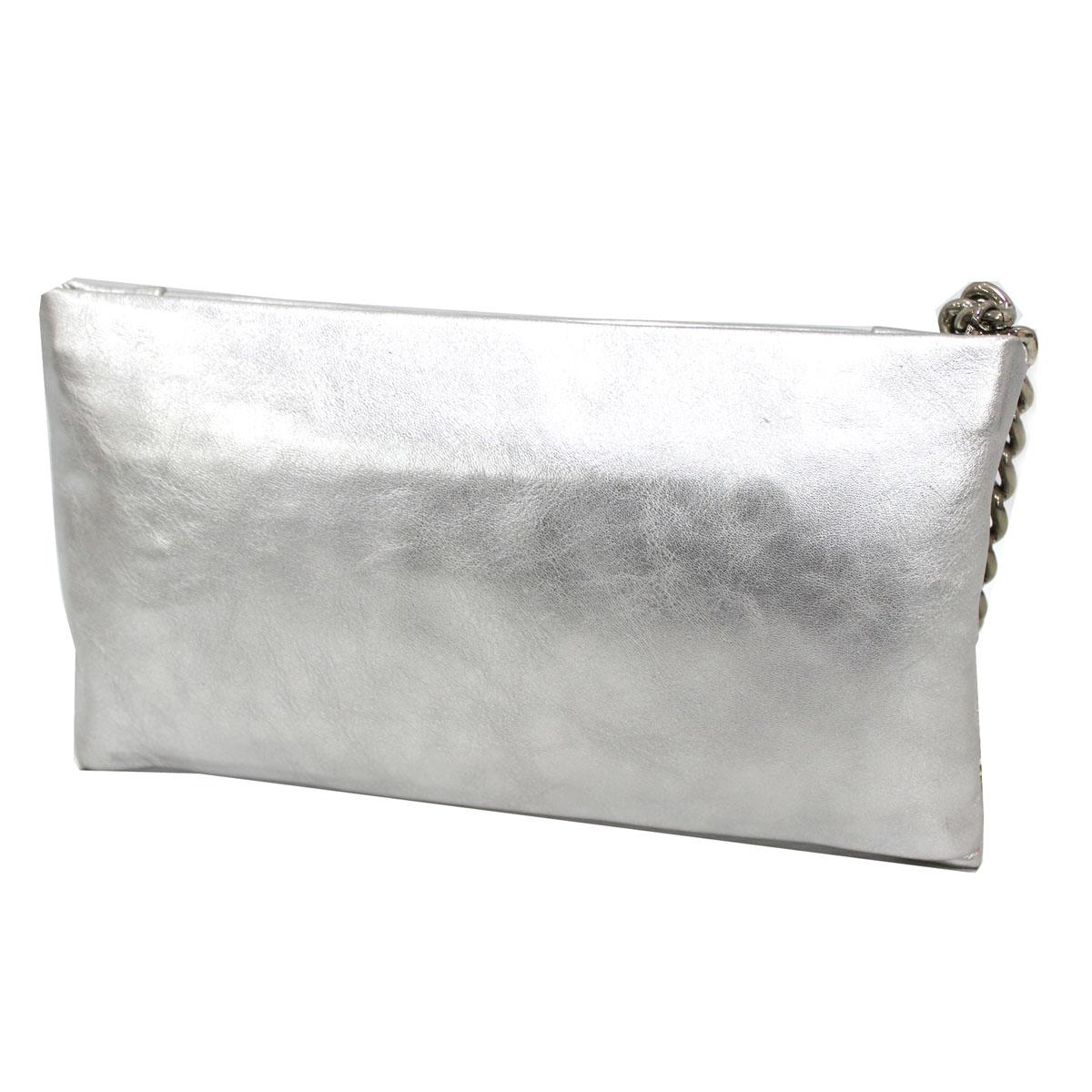 e5df20d7d5 €32,56. Borsetta donna borsa clutch a mano da sera cerimonia pelle Annaluna  191 argento