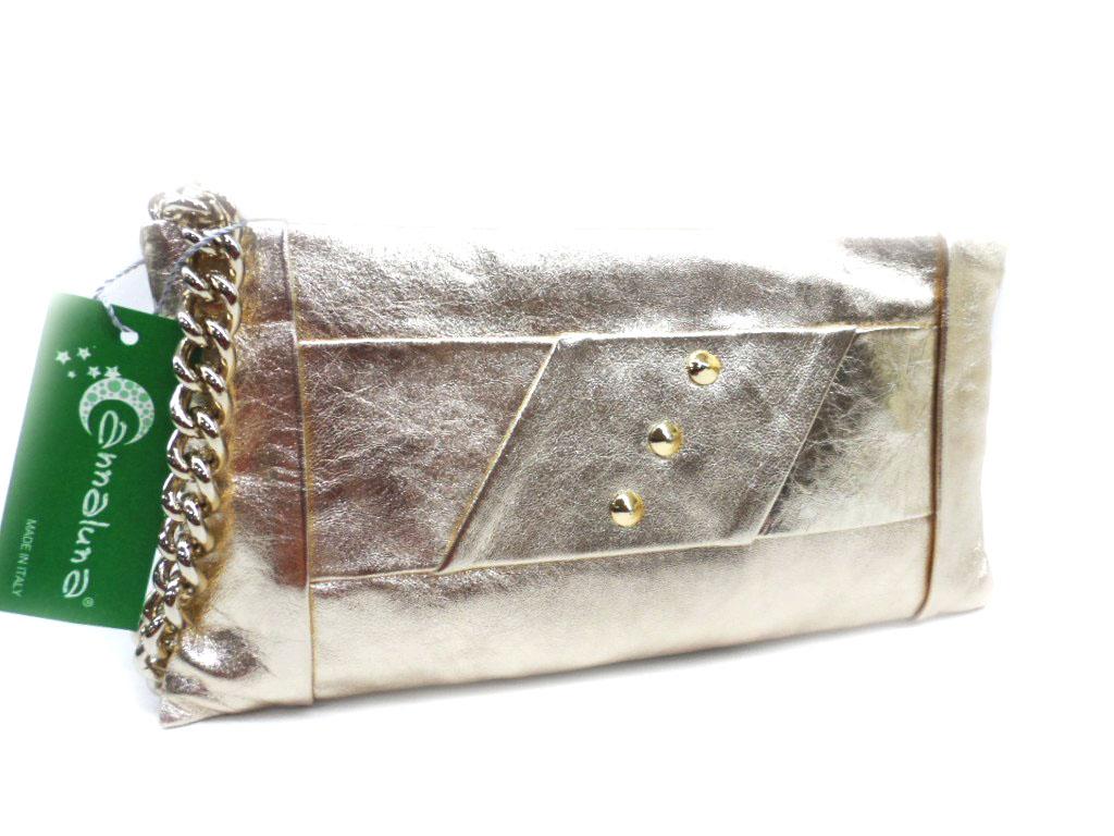 fe29449761 Borsetta donna borsa clutch a mano da sera cerimonia pelle Annaluna 191  platino · BORSA POCHETTE BORSETTA DA SERA ANNALUNA 191L PLATINO MADE IN  ITALY ...