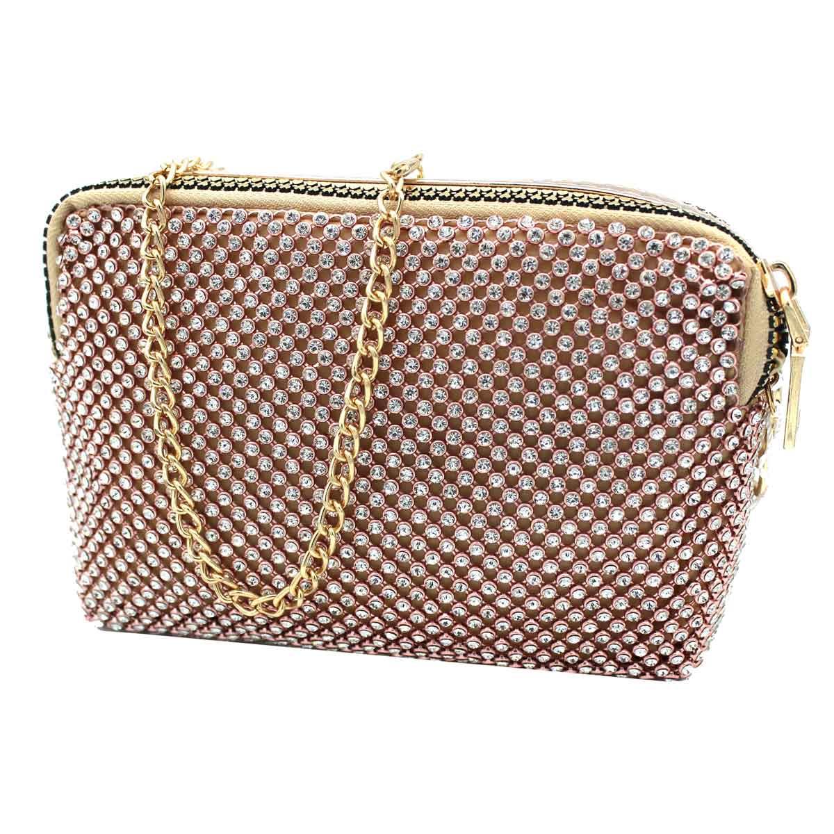cf6ee2c679 Borsetta donna borsa clutch con strass da sera cerimonia Michelle moon  v4098 cha