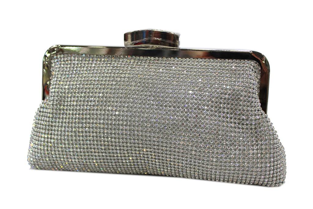 485a1f8a05 €28,79. Borsetta donna pochette da sera morbida linea strass MICHELLE MOON  v023 argento ...