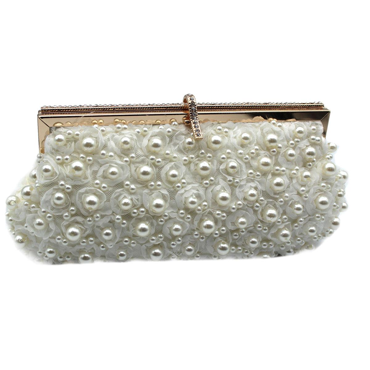 2dd3654c21 Borsetta donna pochette da sera clutch con perline MICHELLE MOON v4509 oro