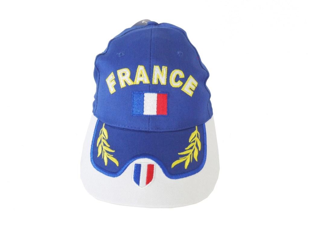 Cappello uomo 100% cotone modello Baseball turista taglia unica FRANCIA blue e312c138f89b