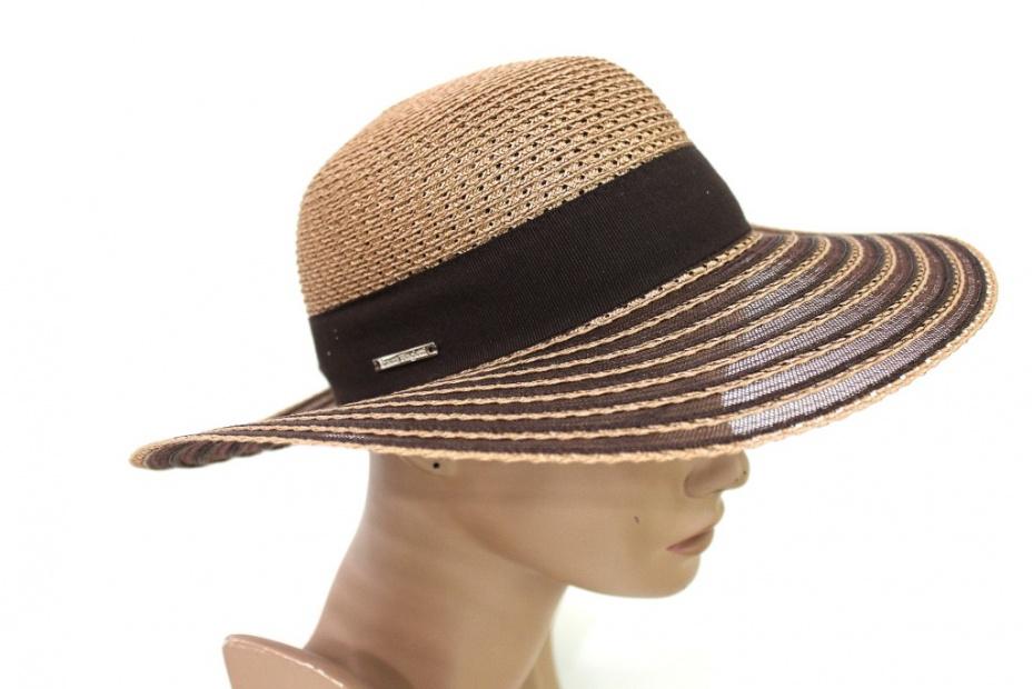 Cappello Donna tesa larga Tg.55 LAURA BIAGIOTTI 138582 marrone Made In Italy f7b8e0d46606