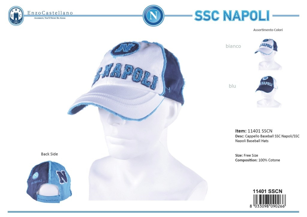 7c4172fd Man's Hat baseball model SSC Napoli By Enzo Castellano 11401