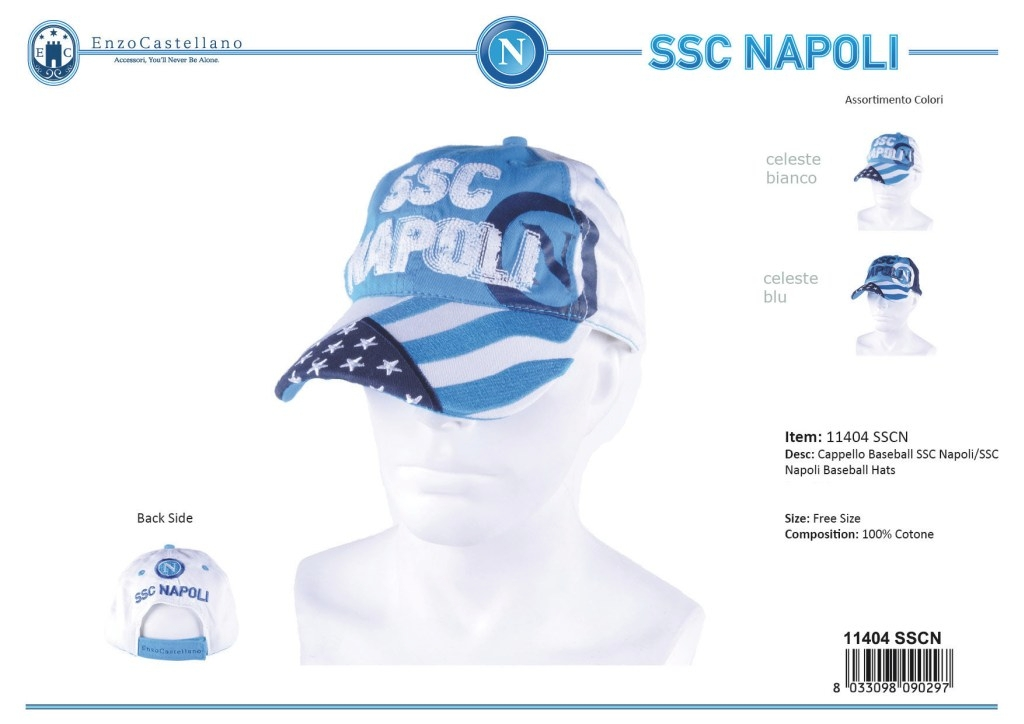 Man s Hat baseball model SSC Napoli By Enzo Castellano 11404 3d4adb5d6b21