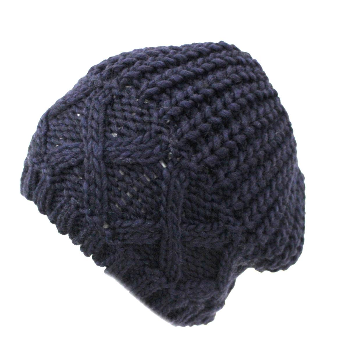 Cappello donna MISTO LANA ALPACA VISCOSA ACRILICO cuffia MADE IN ITALY m1326  blu 216bf9807c14