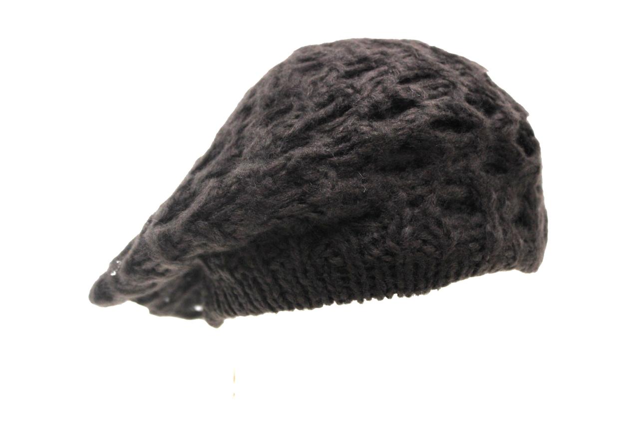 Cappello donna acrilico modello basco ROMEO GIGLI linea traforata 19032 moro 2c1f47d3c3e7