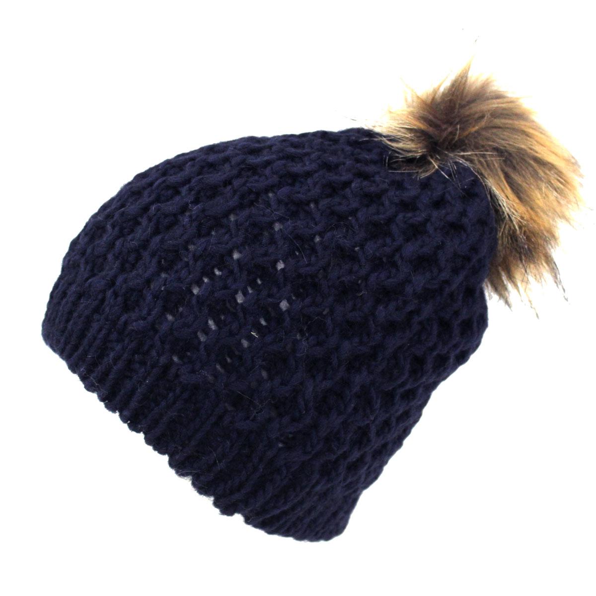 Cappello donna a maglia LANA ALPACA VISCOSA CUFFIA MADE IN ITALY m1516pe blu d5effe40f865