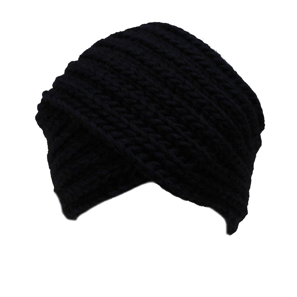 Cappello donna lana alpaca viscosa cuffia a maglia MADE IN ITALY M1621 blu 785f5cff4786