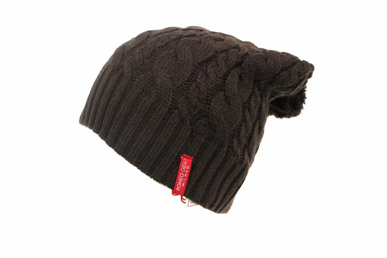 Cappello uomo 100% acrilico berretto rasta con PON PON ROMEO GIGLI 19009  moro 9ee683f44e2a