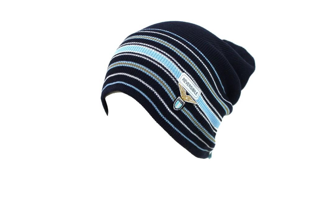 639d63bce563 Cappello uomo 100% acrilico berretto cuffia rasta REVERSIBILE SS LAZIO  17013.a