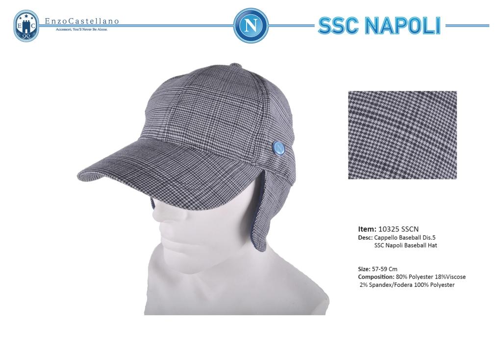 Man s Hat baseball model with ear flaps Ssc Napoli by Enzo Castellano 10325 cc0269597cbf