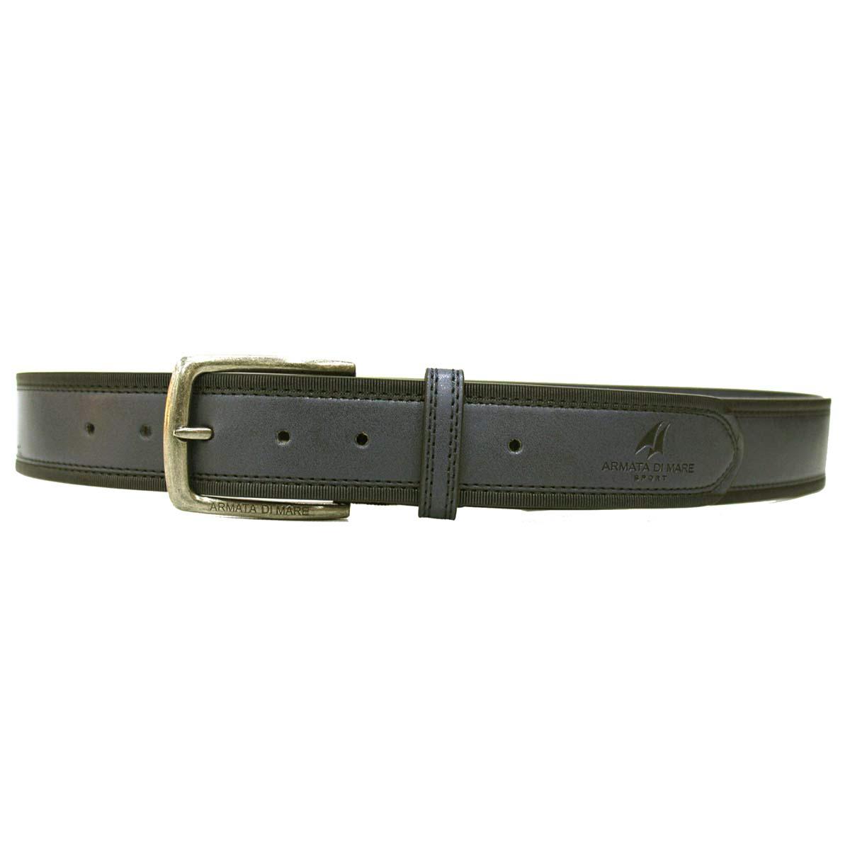Cintura vero coccodrillo fianco uomo fodera vero cuoio nabuc 35 mm accorciablie