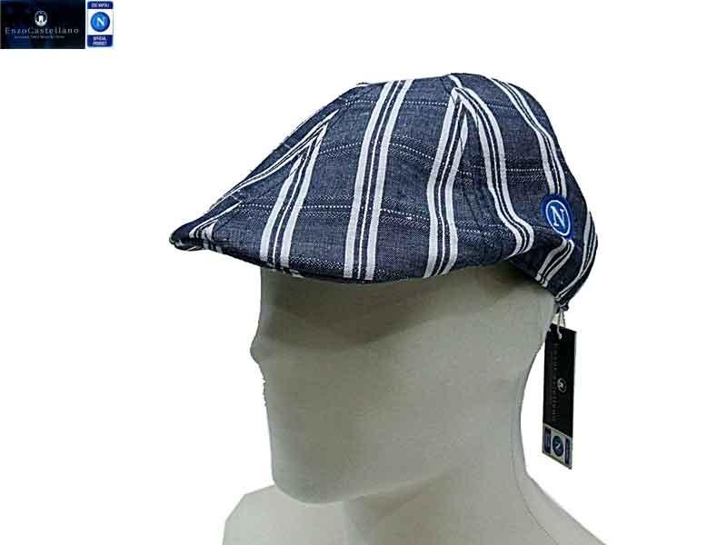 Cappello uomo LINO E COTONE COPPOLA SSC NAPOLI BY ENZO CASTELLANO 9601  d.jeans 285e04f19ff5