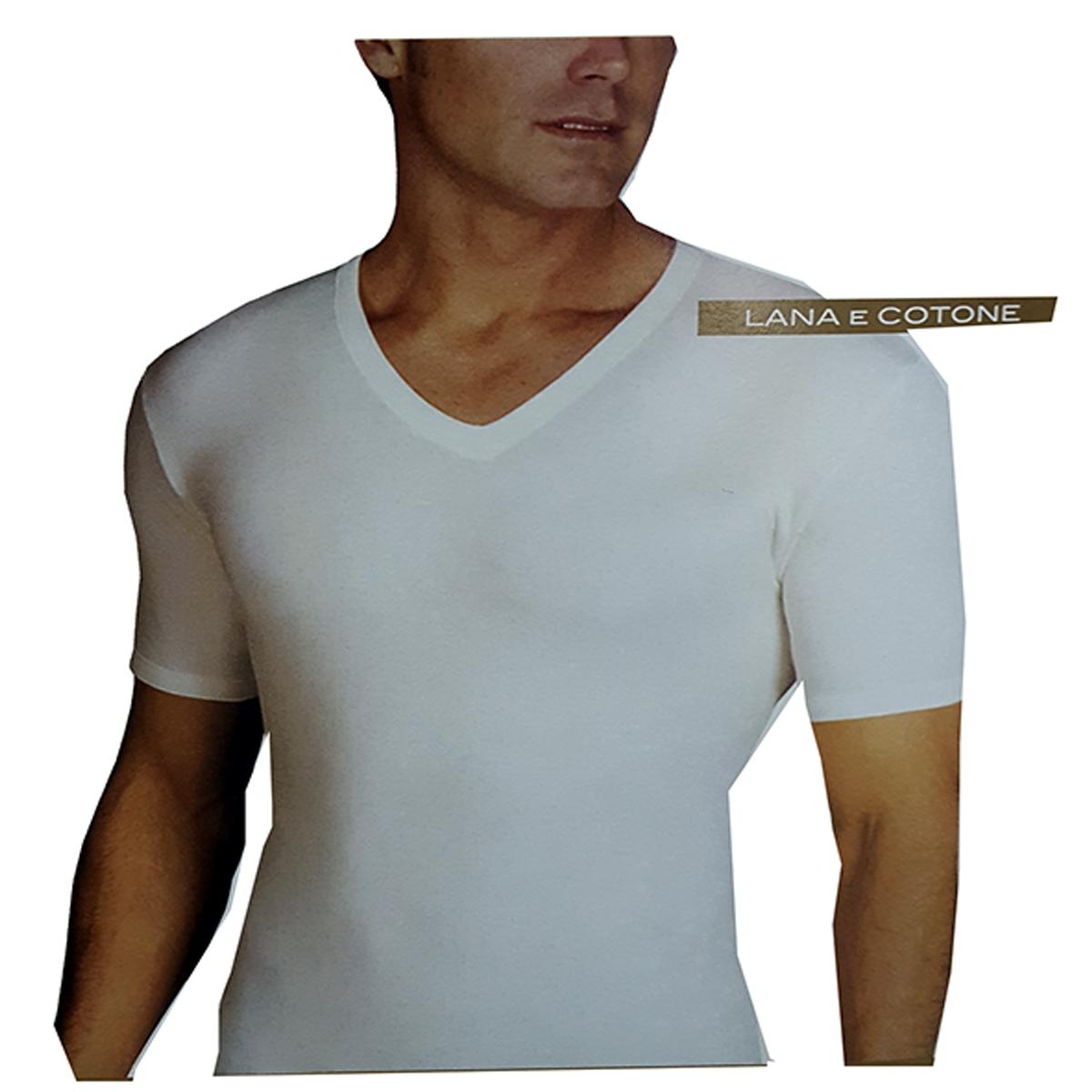 T-SHIRT Uomo Scollo a V Bianco 9 Pezzi SWEET YEARS 100/% COTONE