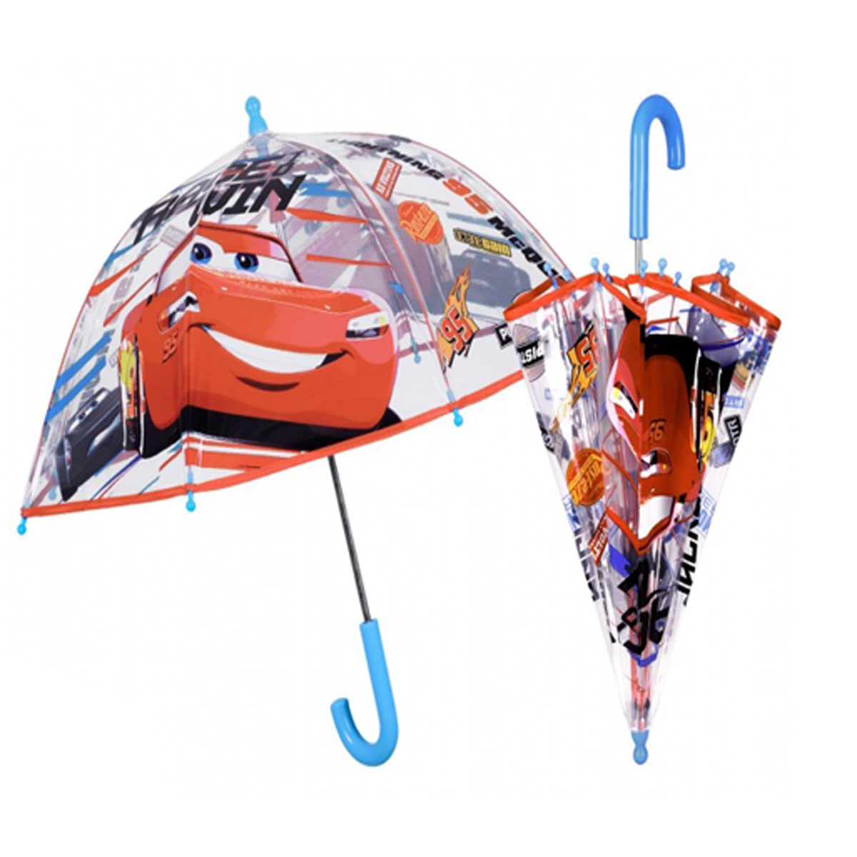 8ab3e4959f1e Ombrello bambino trasparente manuale cupola poe fantasia Cars 50527
