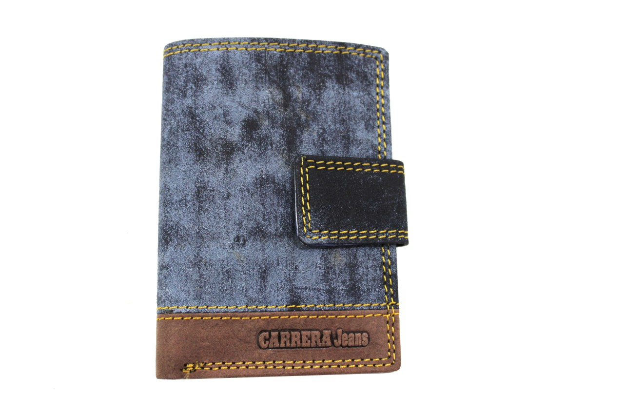 cfb19ae3eb696b Credit card holder in leather pattern with clip Carrera CB427852 blu