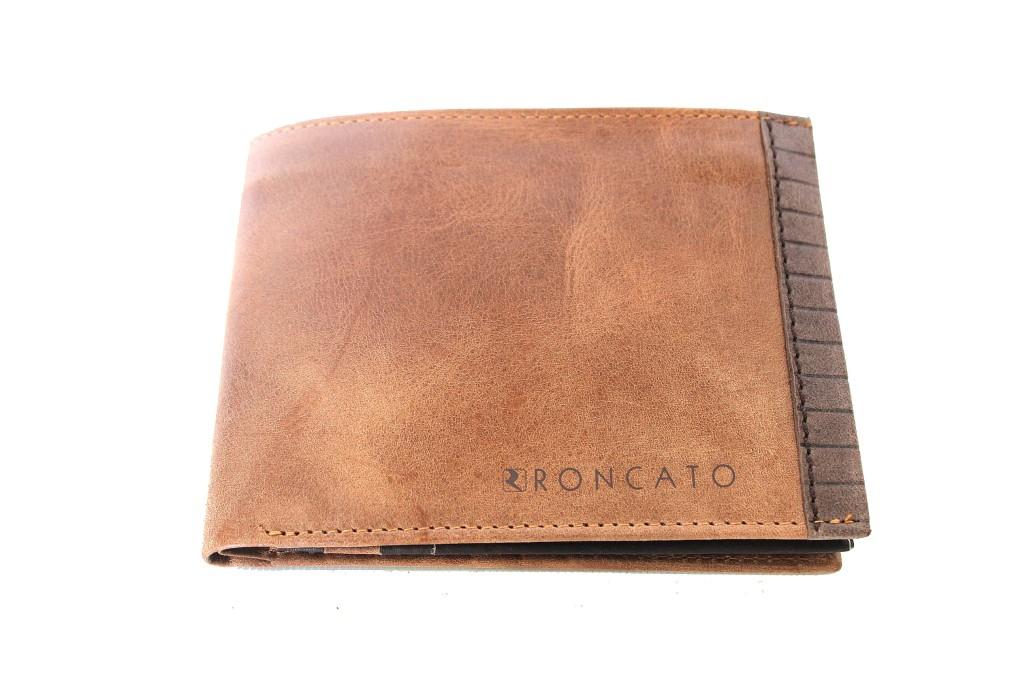 b80220112a Portafoglio uomo in PELLE R RONCATO linea bordino porta carte credito 11105  marr