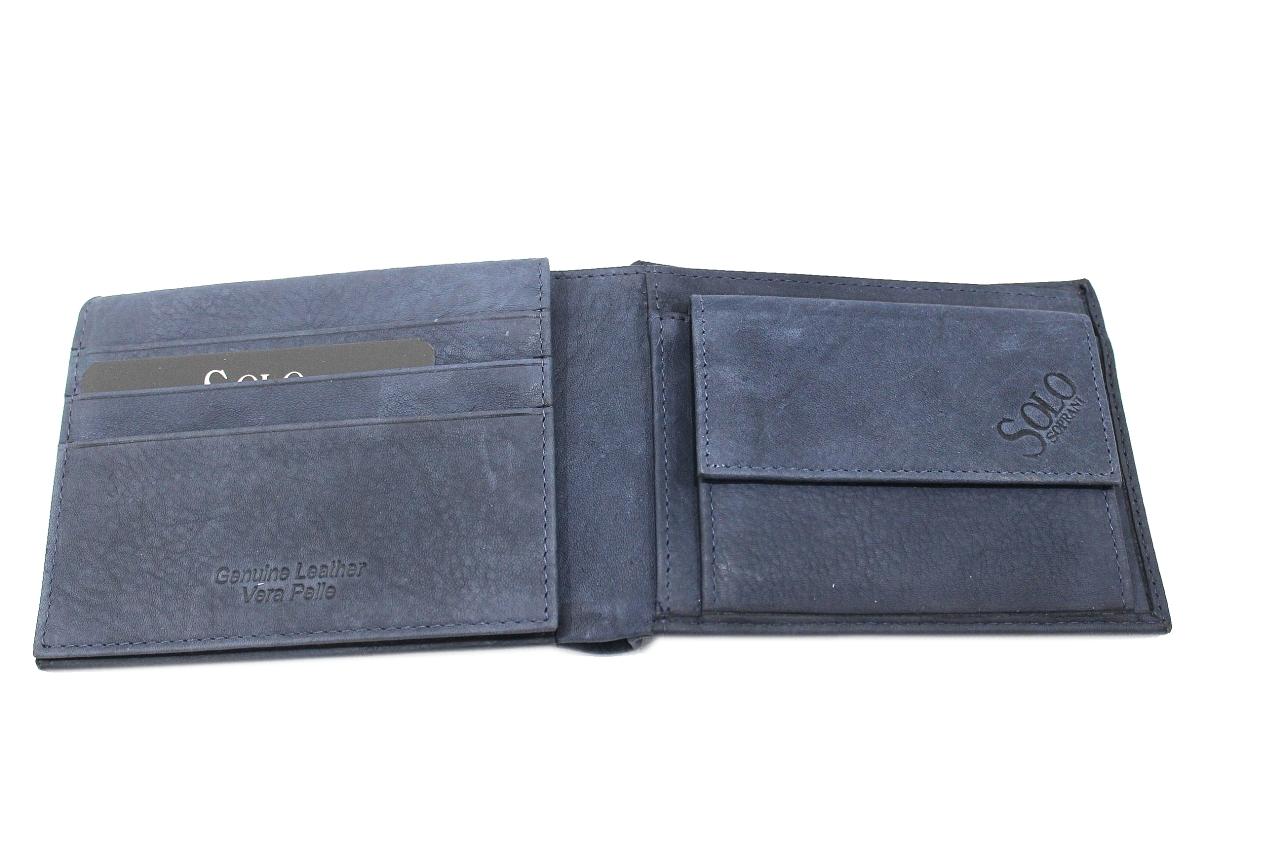 nuova versione anteprima di goditi il prezzo più basso Man's wallet Solo Soprani logo line with coins purse 35021p029 blu