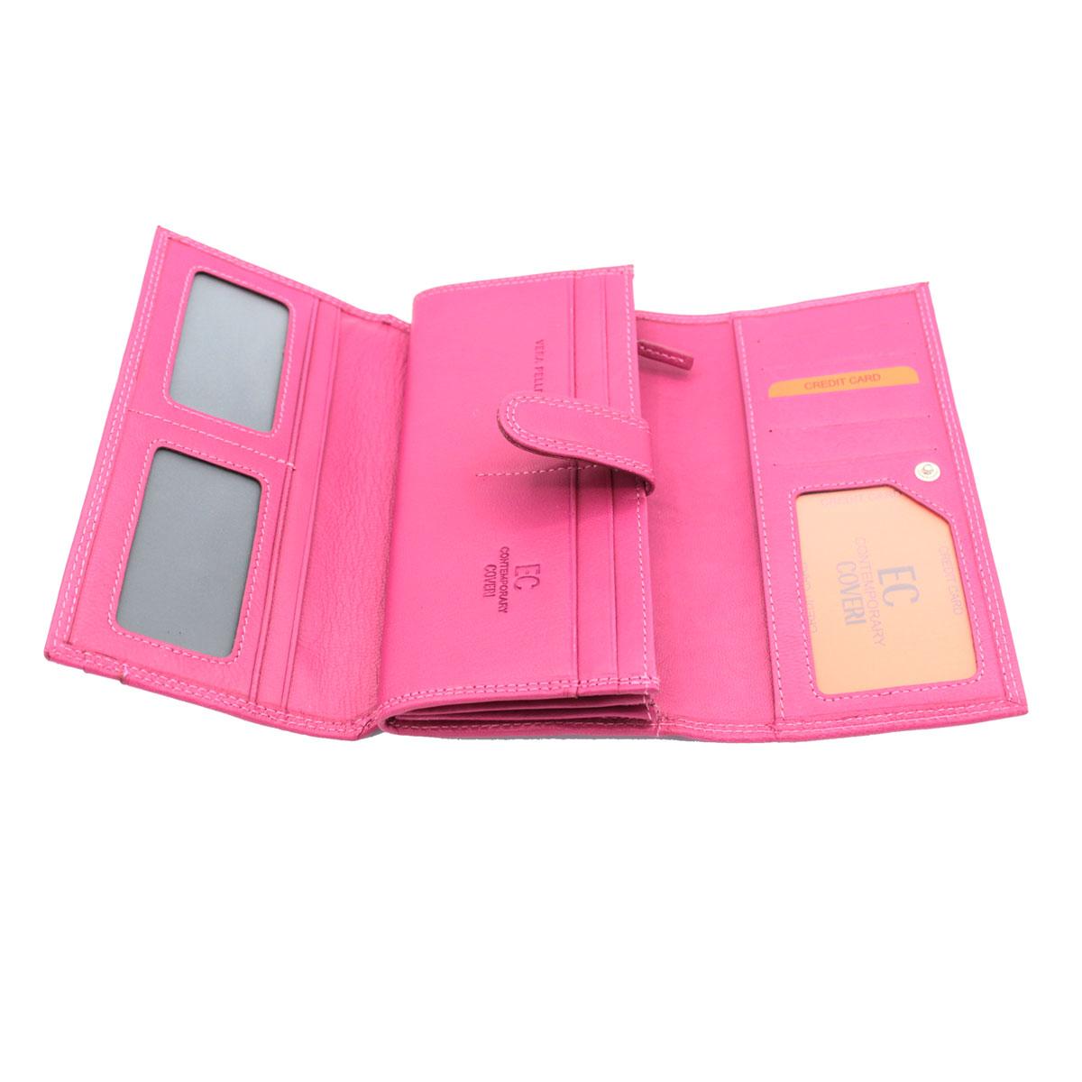 Portafoglio donna PELLE portamonete portafoto CONTEMPORARY COVERI 830-G105 aranc