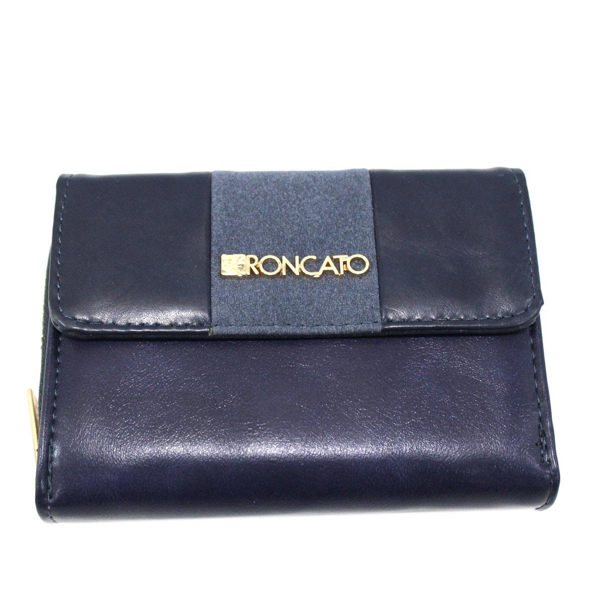 2ec6989665 Portafoglio donna SIMILPELLE con portamonete e zip R RONCATO 4802-480 blu