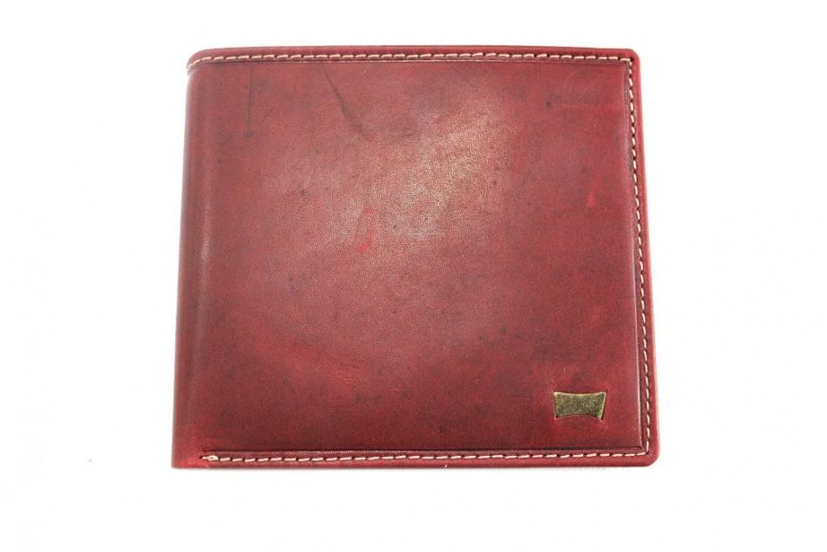 a basso prezzo c0005 7500d Portafoglio uomo in pelle senza portamonete Carrera metal logo cb426901  rosso