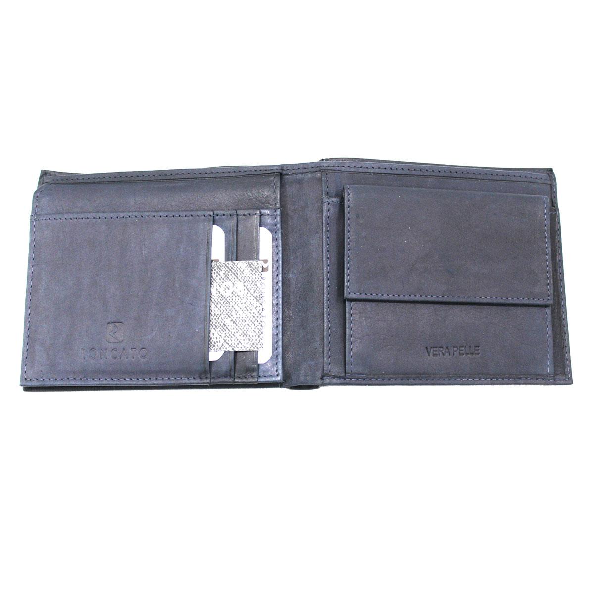 b89d181fe2 Portafoglio uomo PELLE con portamonete e ribaltina R RONCATO 14104.141 blu