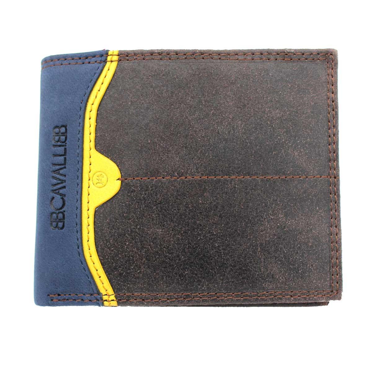 Pierre Cardin-Genuine Leather-Mens Black Brown Wallet-Card Coin Holder Purse+Box