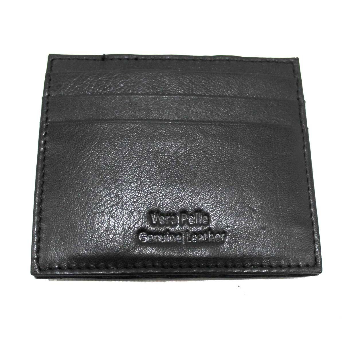 selezione premium d14a8 66faf Dettagli su Portafoglio uomo in pelle porta carte credito banconote magico  con elastici 793