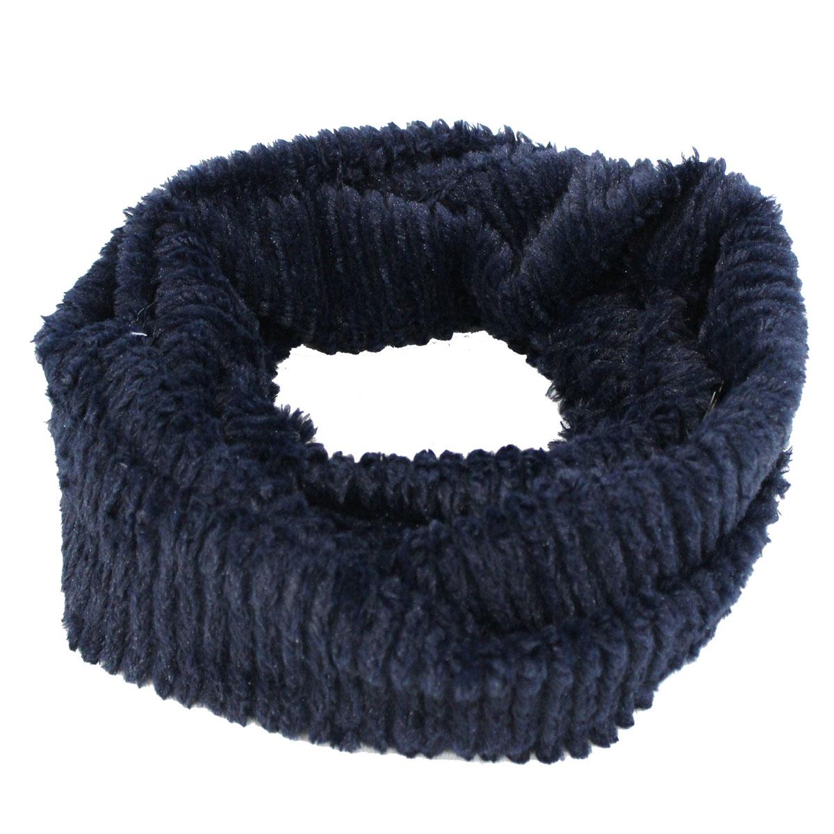 Scaldacollo donna 100% POLIESTERE sciarpa anello COVERI COLLECTION 183122  blu 4742e19bd0d