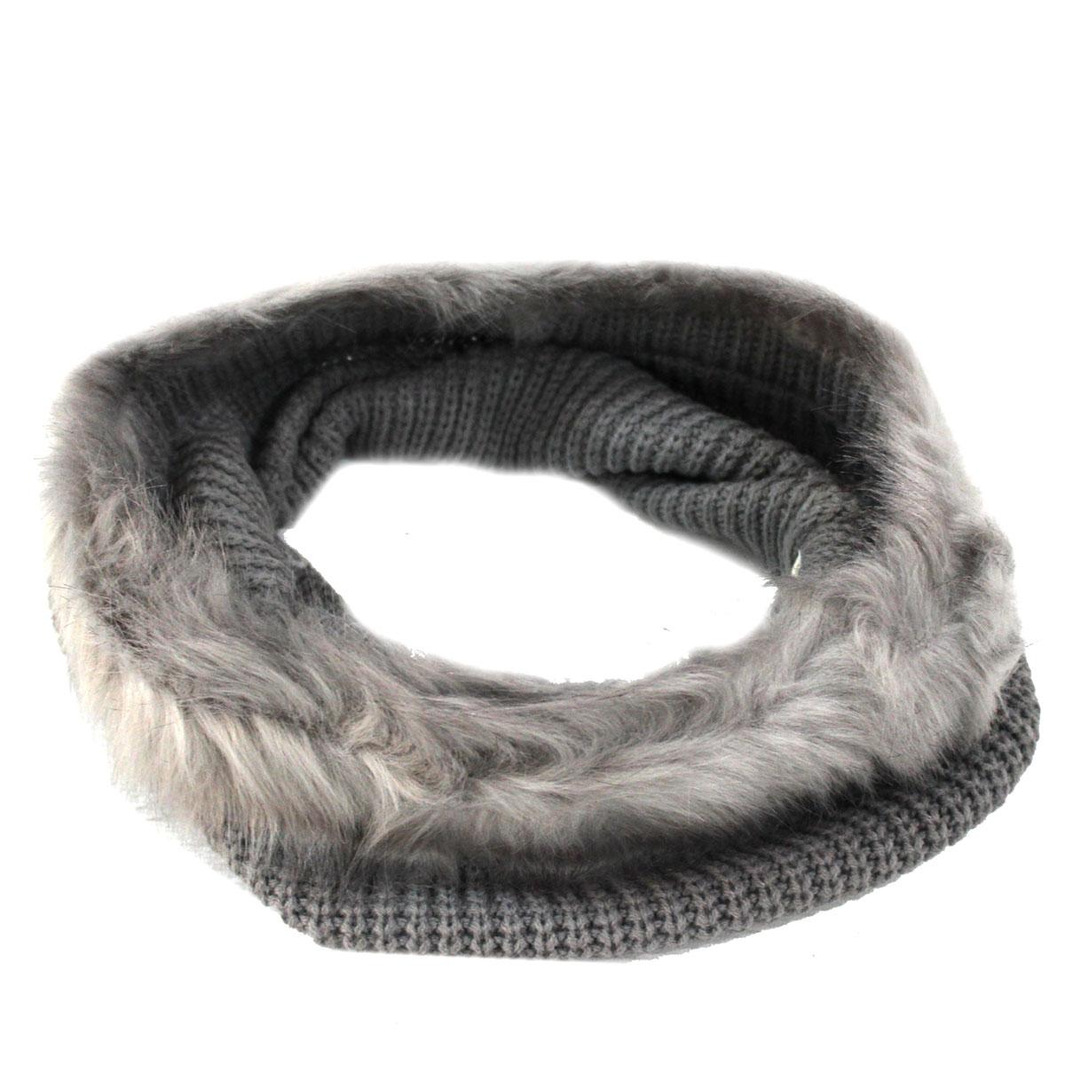 Scaldacollo donna anello con pelliccia 100% ACRILICO LAURA BIAGIOTTI 21186  grey 142c2680c4a