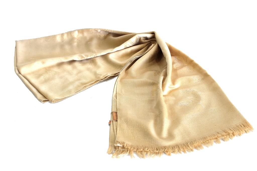 nuovo di zecca 65374 c7abe Sciarpa donna Laura Biagiotti pashmina l.farfalle 19465 oro beige