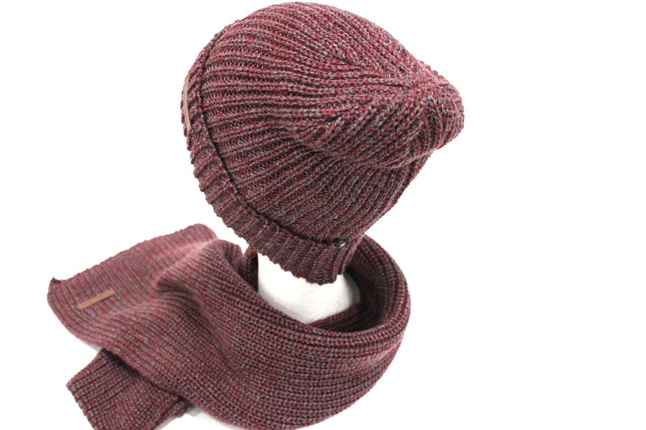 Sciarpa e cappello uomo linea coordinati Gian Marco Venturi 79608 bordeaux d7fcc89e5e52