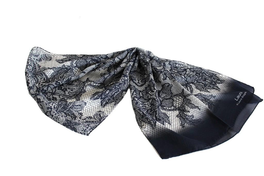 vendita online ultimo stile cerca autentico Sciarpa seta Laura Biagiotti donna linea chiffon 3716 blu made in italy