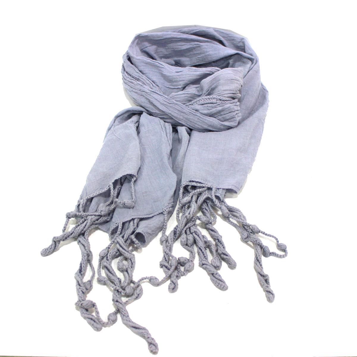 Rotfuchs sciarpa di cotone da uomo sciarpa estiva da donna multicolore effetto stropicciato Made in Germany