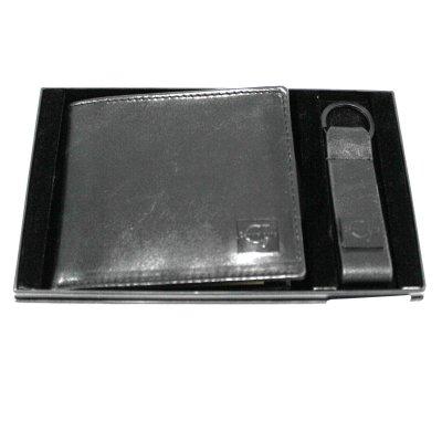 negozio ufficiale ultime tendenze nuovi oggetti Set portafoglio uomo pelle portachiavi SIMILPELLE CARRERA Blake in box  cb913 nero