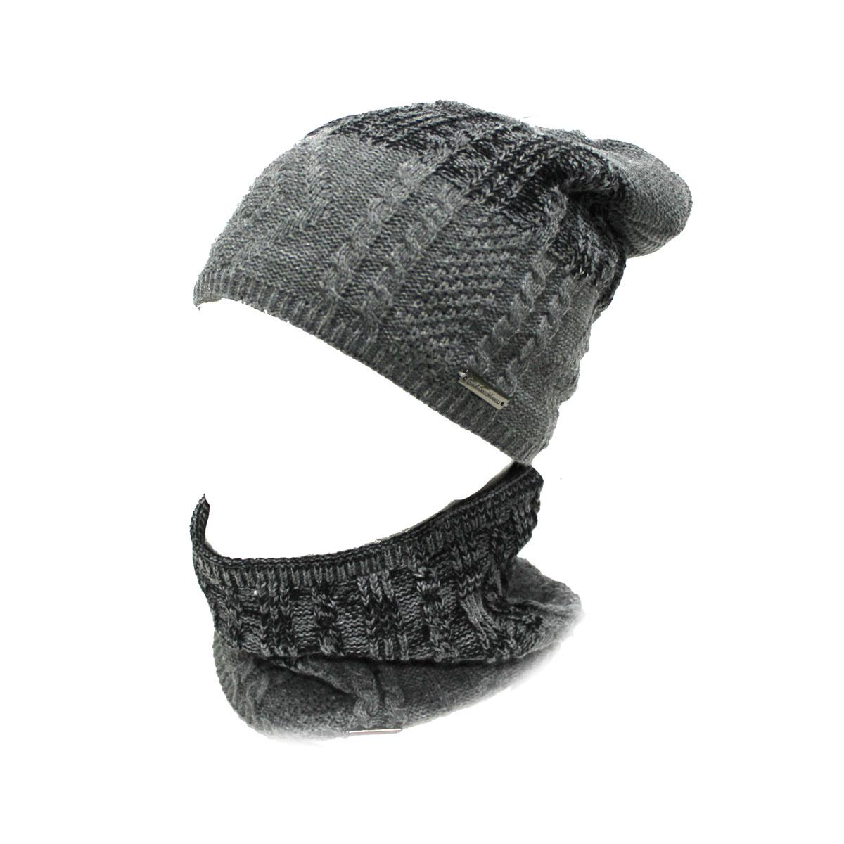 Set scaldacollo e cappello uomo 100% ACRILICO GIAN MARCO VENTURI 61940 grigio