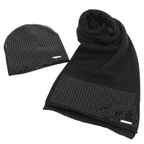più recente ba80f a0185 Set sciarpa e cappello donna Laura Biagiotti 100% acrilico 22158 nero